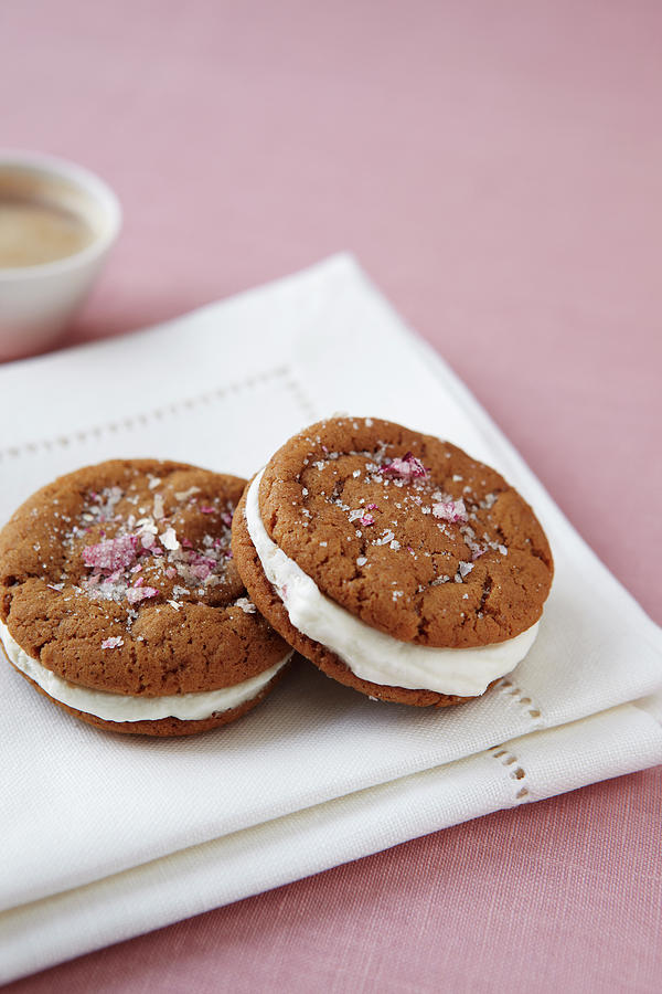 Gingersnap Cream Filled Cookies Photograph by Jacob Snavely