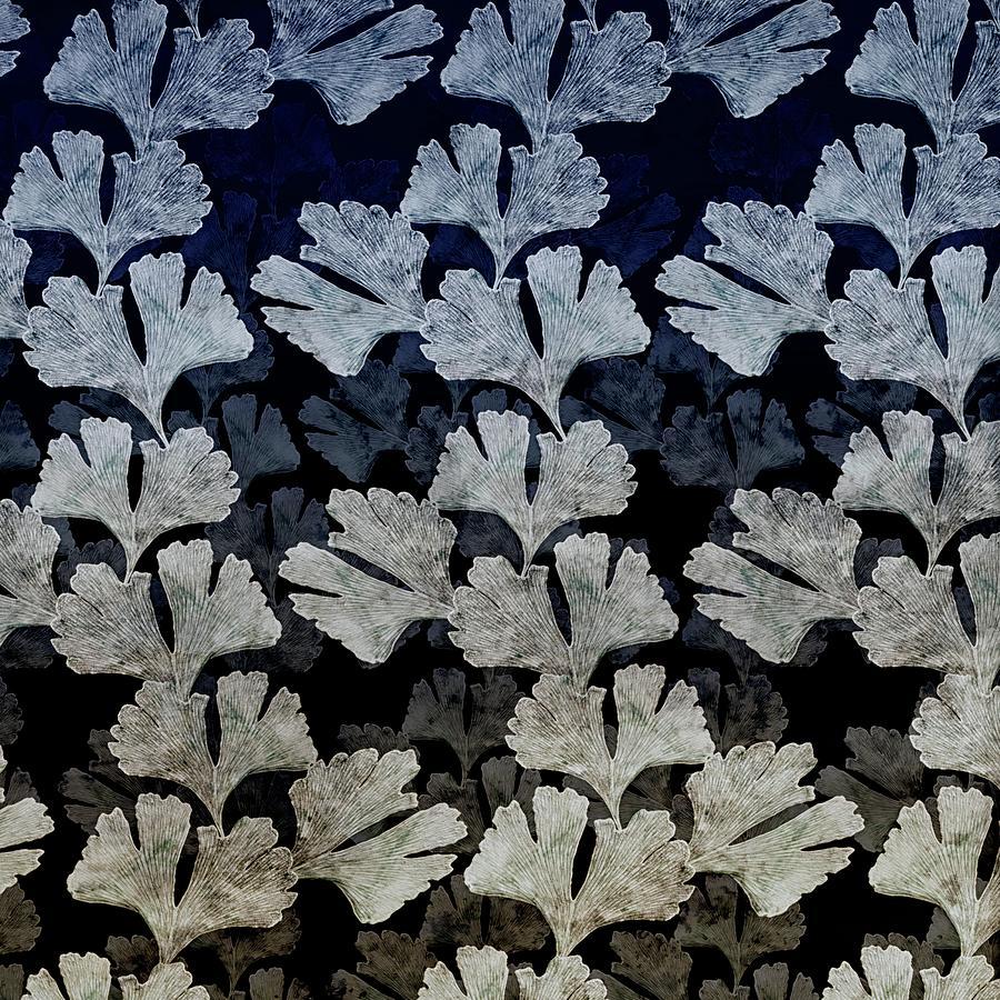 Ginko Leaf Pattern Digital Art
