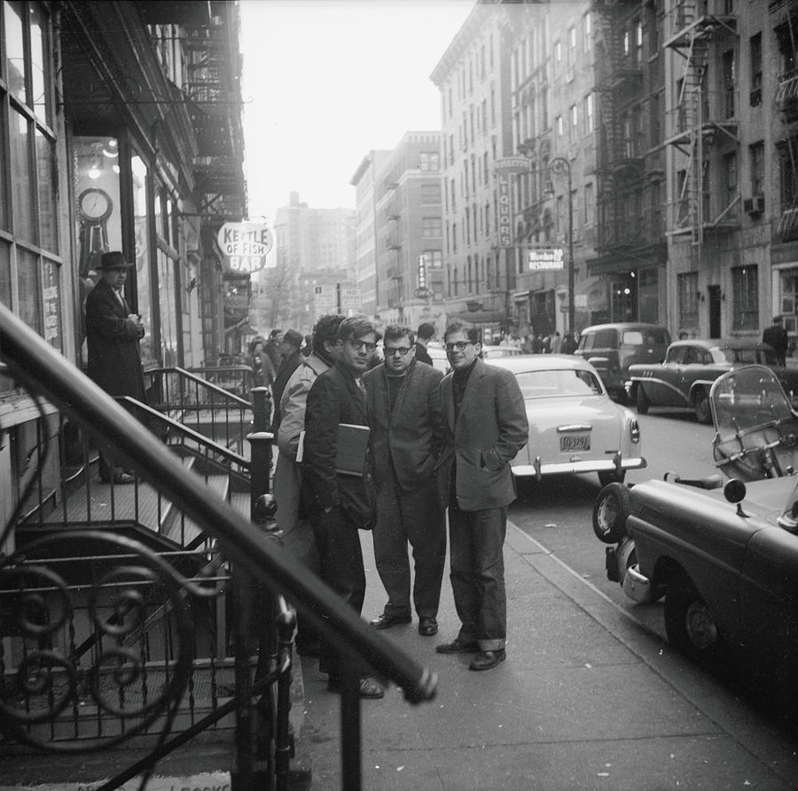 Ginsberg, Orlovsky, & Others On Photograph by Fred W. McDarrah