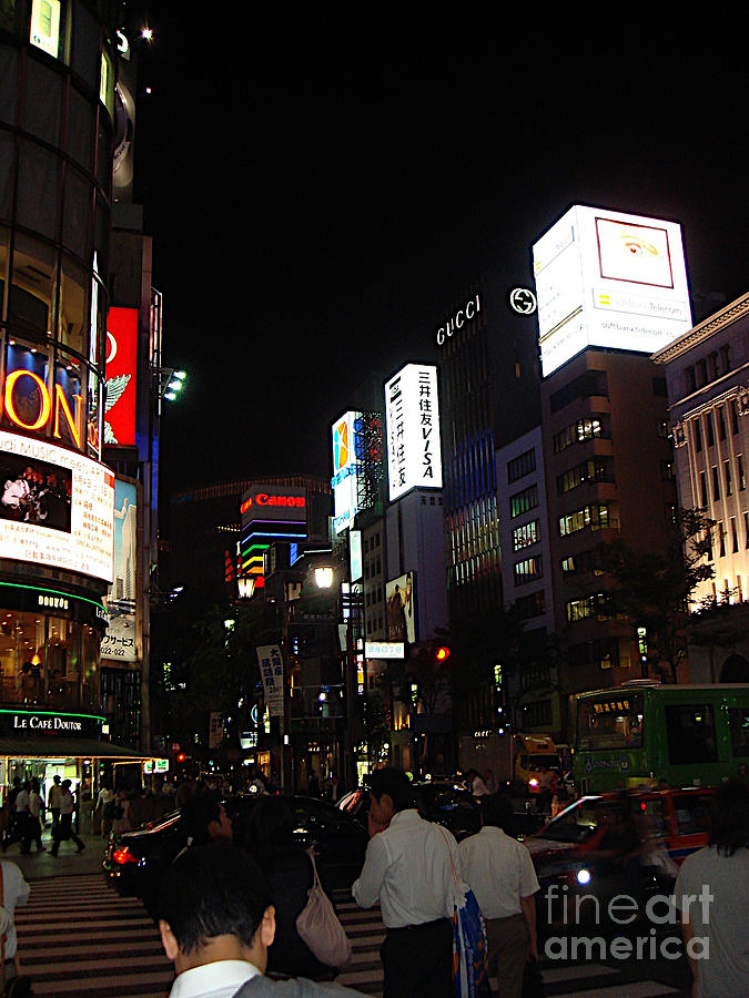Ginza, Tokyo by Yvonne Johnstone