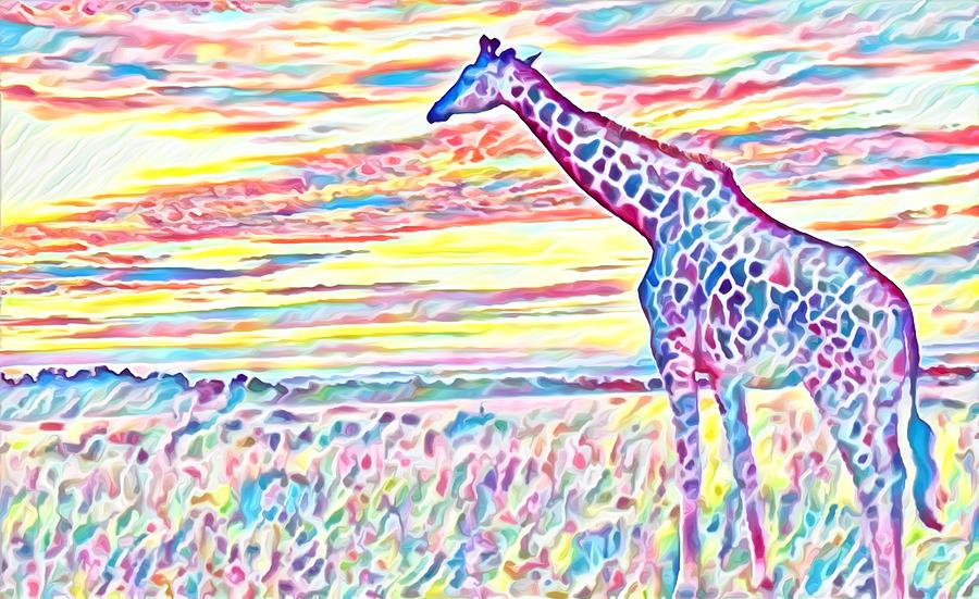 Giraffe Dots by Gini Moore
