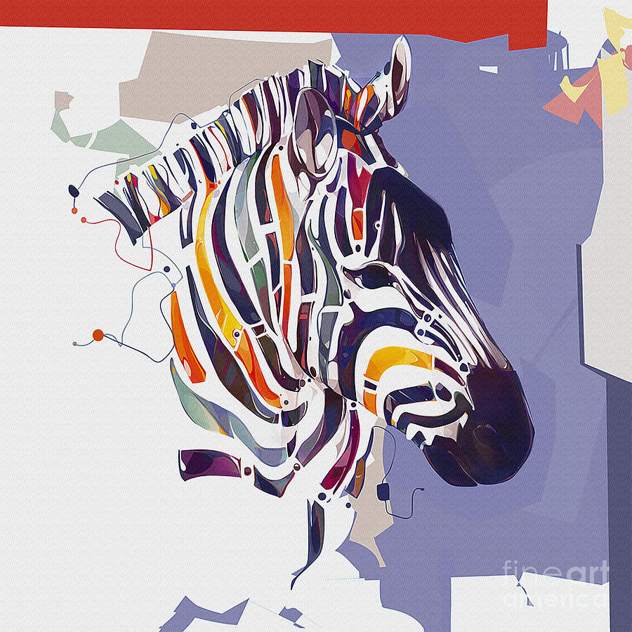 Surreal Painting - Giraffe Illustration Art 5t by Gull G