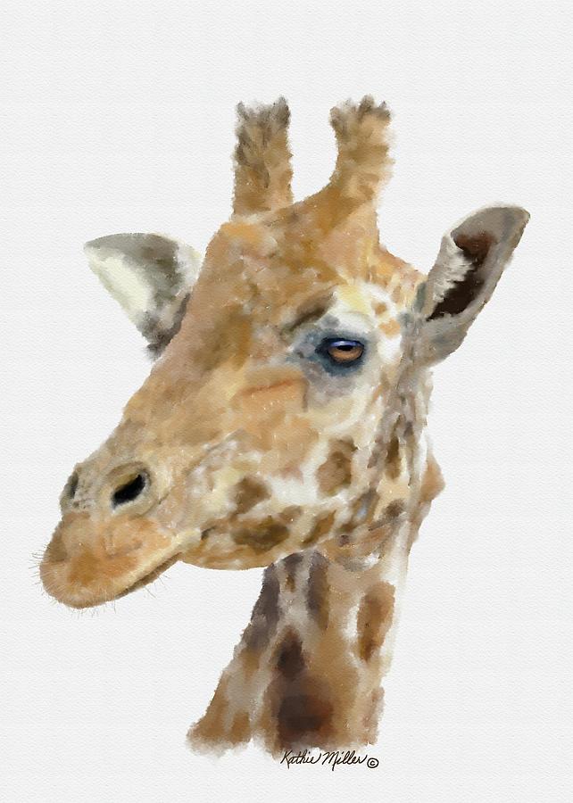 Giraffe Portrait by Kathie Miller