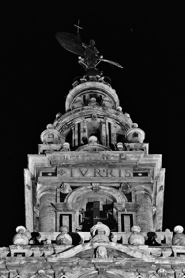 Giralda Tower Detail in Monochrome. Seville by Angelo DeVal