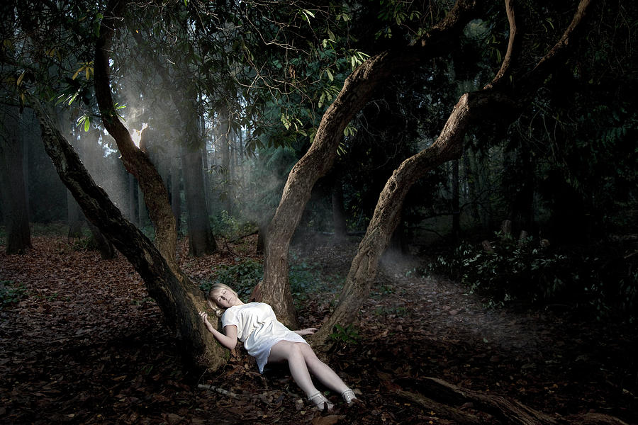 Girl Alone In Woods Photograph by Paul Strowger