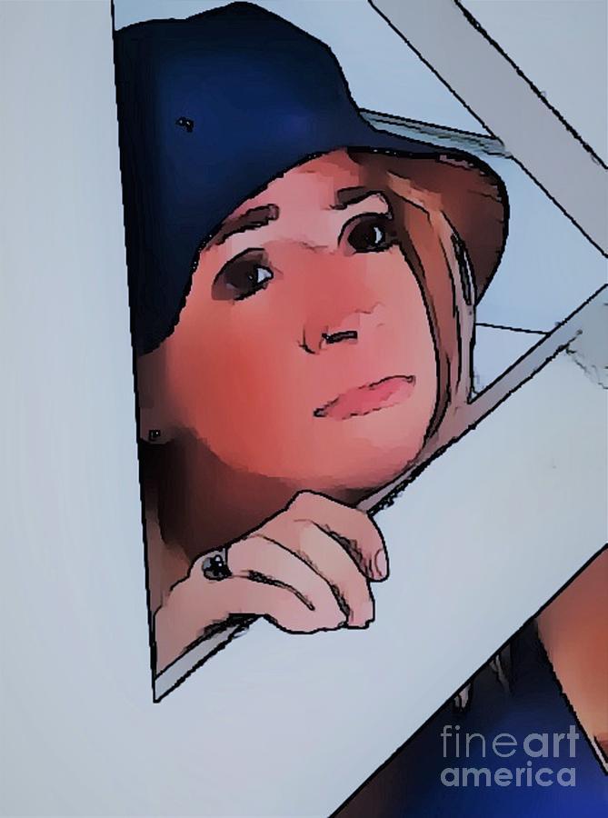 Girl Photograph - Girl In The Blue Hat by Mesa Teresita