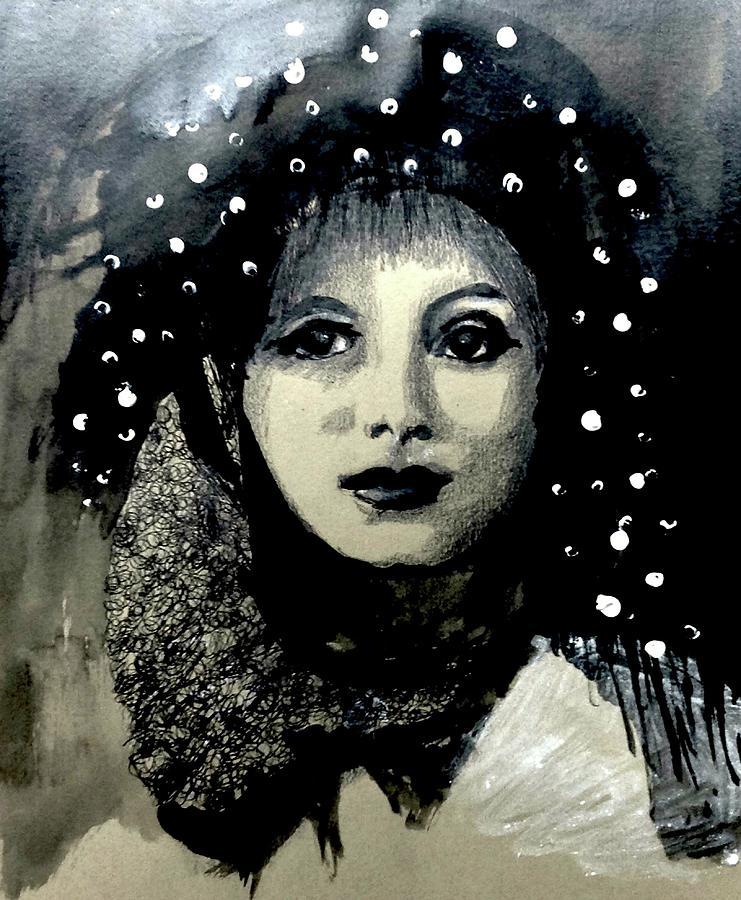 Fantasy Digital Art - Girl In The Rain   by Tatiana Nadvornaia