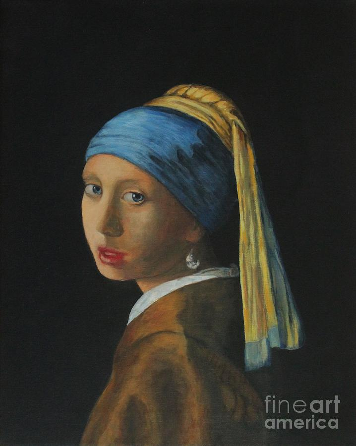 Girl with a pearl earring by Bob Williams