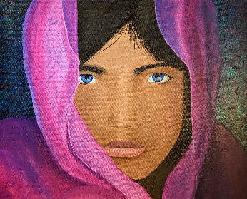 Girl with blue eyes by Gail Friedman