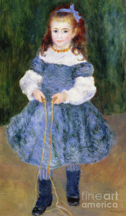 Impressionist Painting - Girl With Jumping Rope, 1876 by Pierre Auguste Renoir