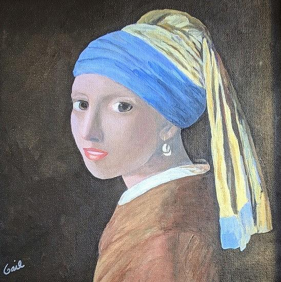 Girl with the Pearl Earring by Gail Friedman