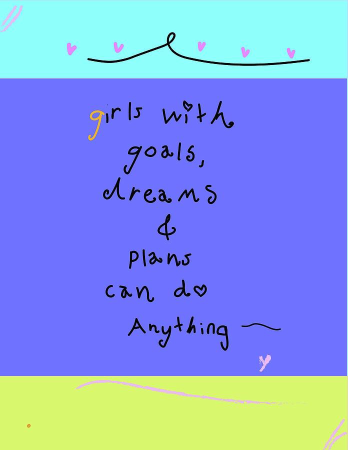 Girls Digital Art - Girls With Goals  by Ashley Rice