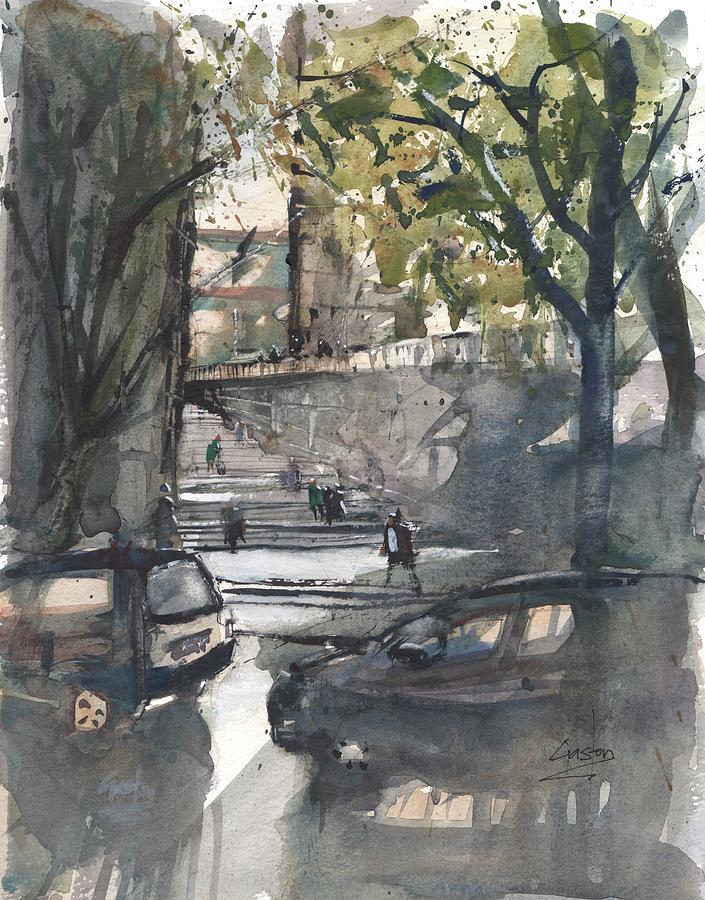 Girona Steps by Gaston McKenzie