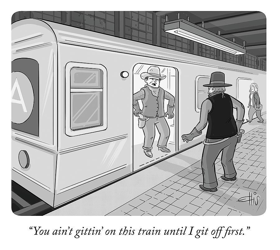 Gitten On This Train Drawing by Ellis Rosen