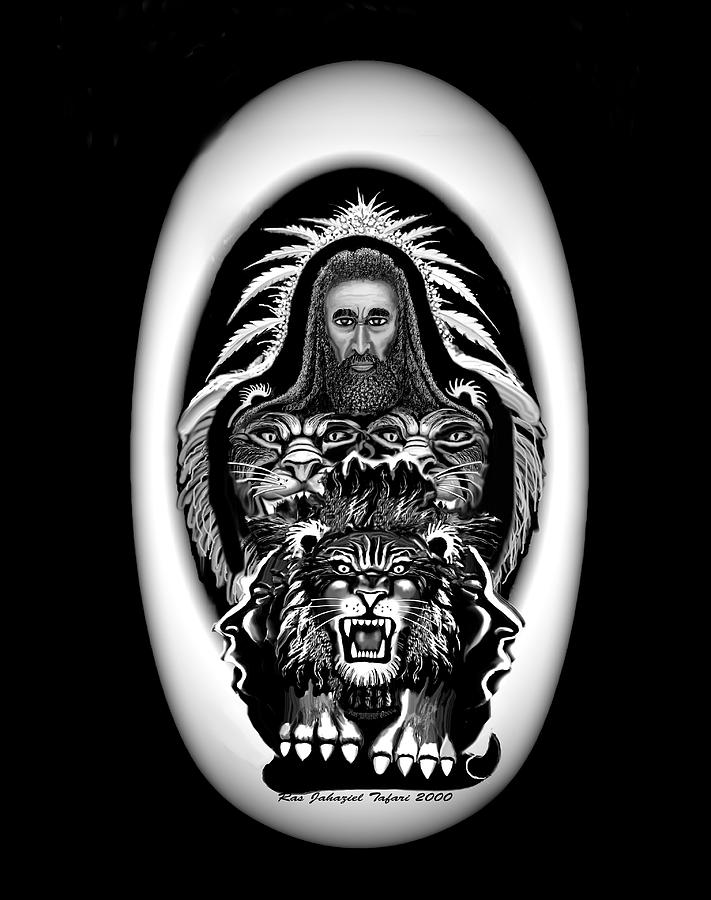 Black And White Drawing - Give Us The Truth 2 by Ras Tafari