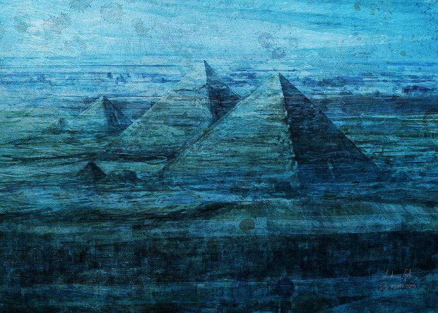 Giza Pyramids Sea Digital Art