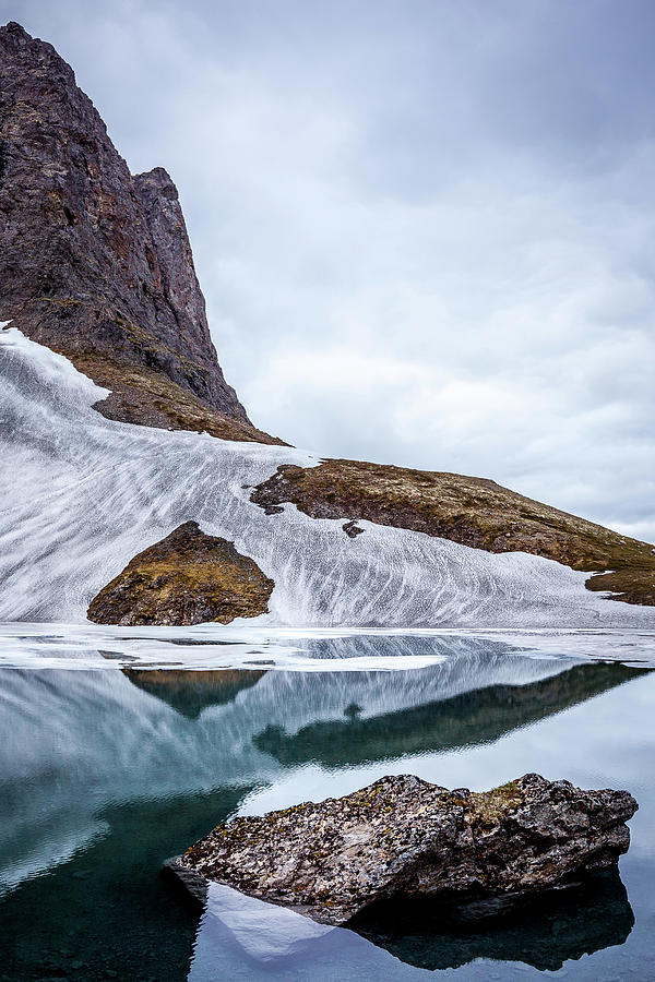 Alaska Photograph - Glacial Lake in Spring by Tim Newton
