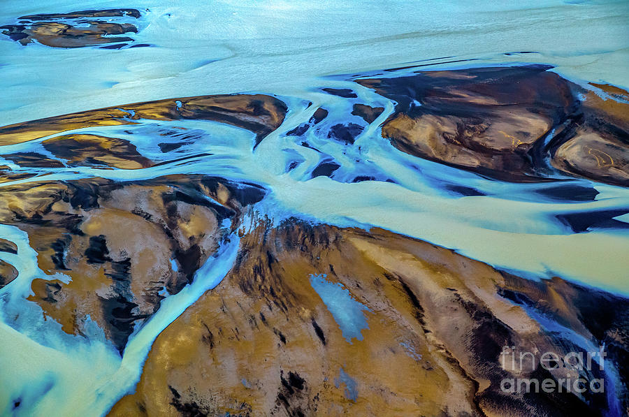 Glacial River Aerial  View 2 by Miles Whittingham