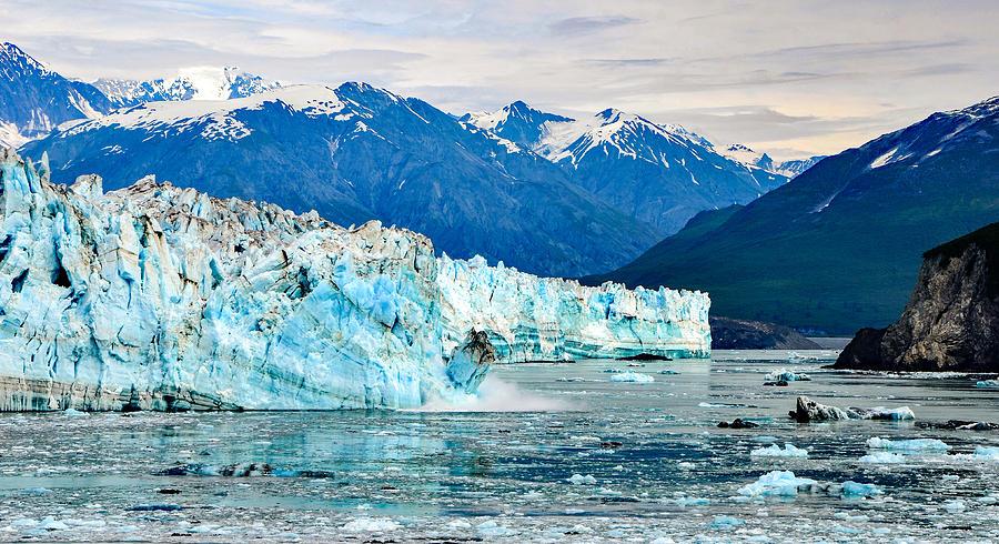 Glacier Calving Alaska  by Marilyn MacCrakin