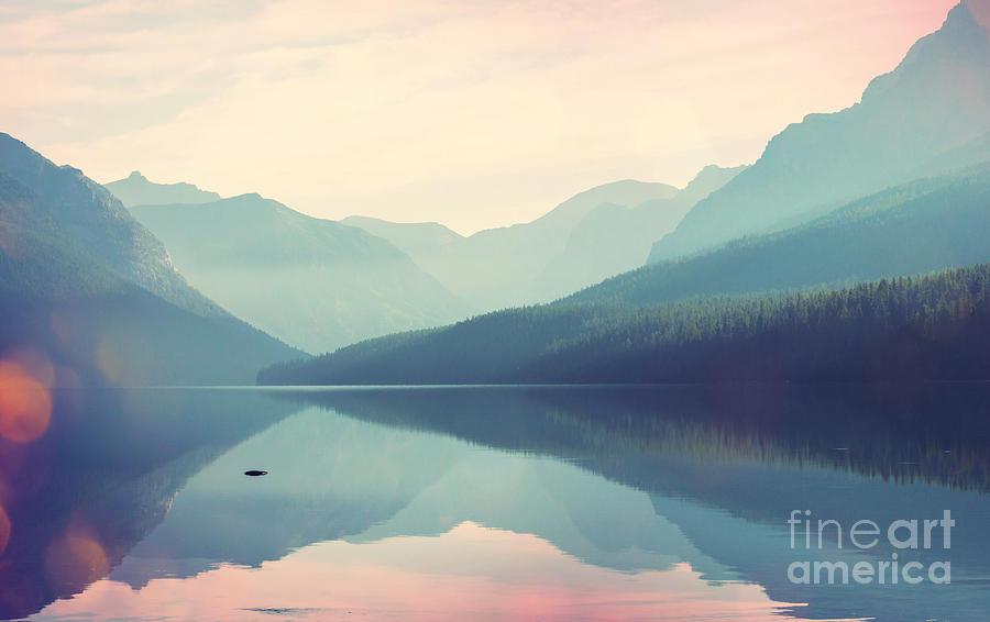 Serenity Photograph - Glacier National Park, Montana, Usa by Galyna Andrushko
