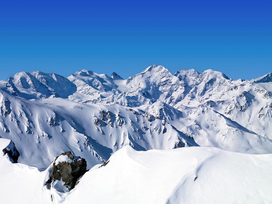Glacier Pizzo Bernina 4049 Mt Photograph by Creativaimage
