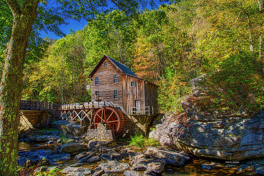 Glade Creek Grist Mill by Dale R Carlson