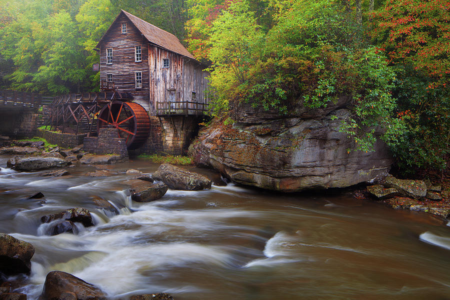 Glade Creek Grist Mill by Dennis Sprinkle
