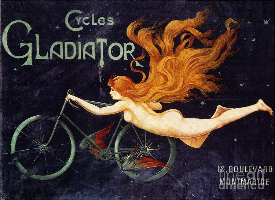 Gladiator Cycle Company Drawing by Heritage Images