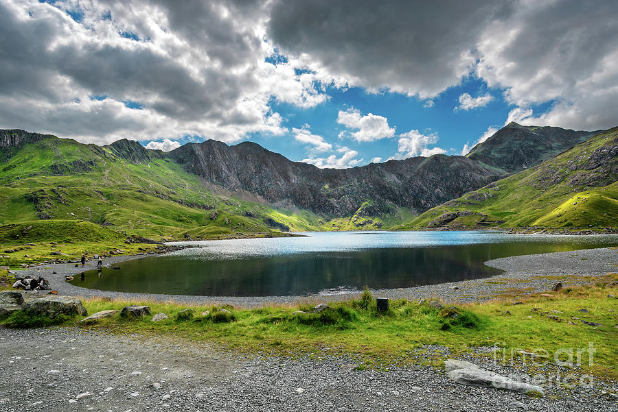 Glaslyn Lake and Snowdon Mountain by Adrian Evans
