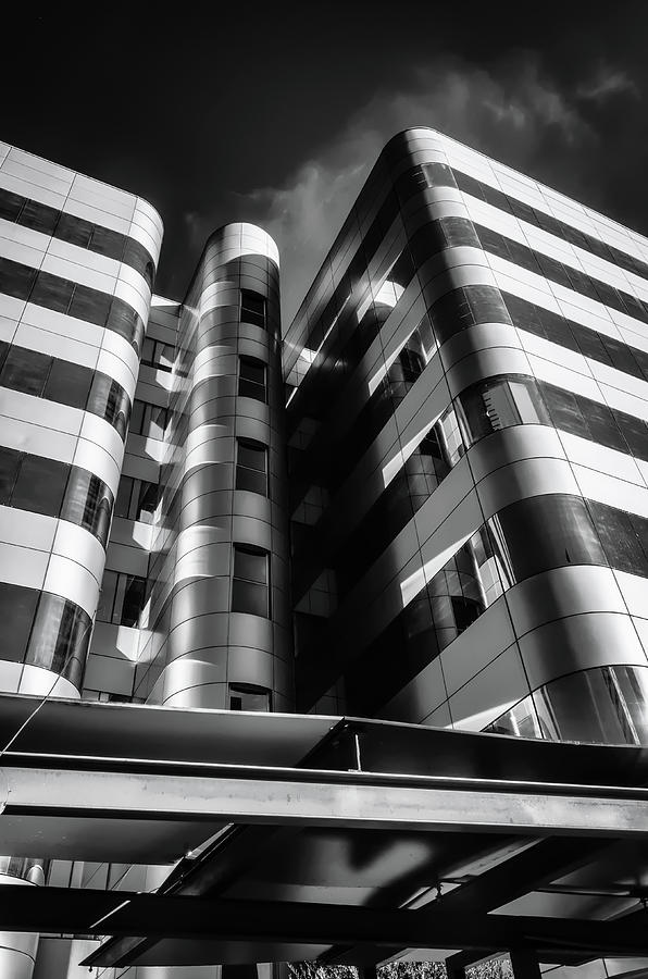 Architecture Photograph - Glass And Steel II Bnw by Borja Robles