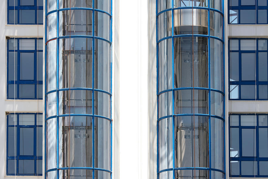 Glass Elevator Photograph by Visual7