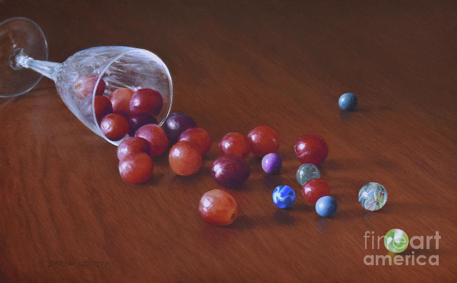 Glass Grapes Marbles by Barbara Groff