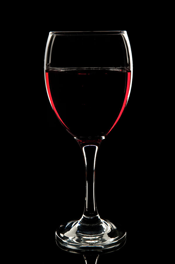 Glass Of Red Wine Photograph by Markgillow