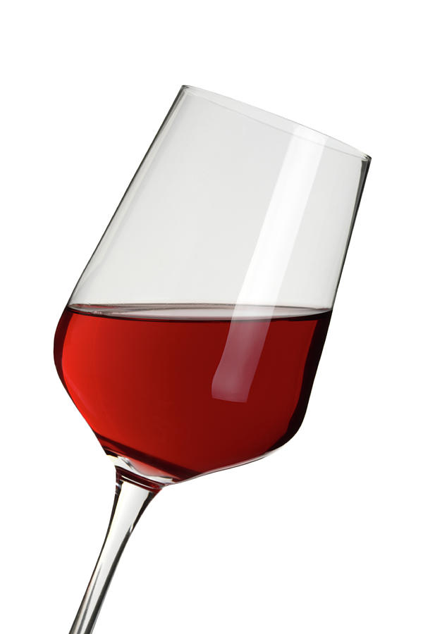 Glass Of Wine Clipping Path Photograph by Pannonia