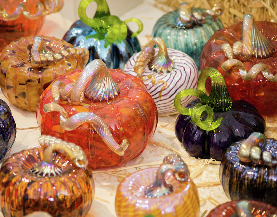 Glass Pumpkins by Christy Schneller