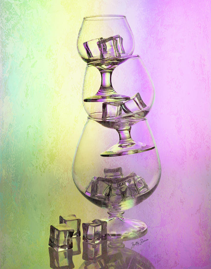 Glassware - Trio of Tipsy Brandy Snifters by Betty Denise