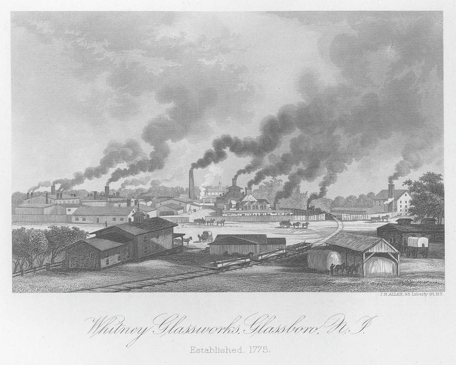 Glassworks In New Jersey Photograph by Kean Collection