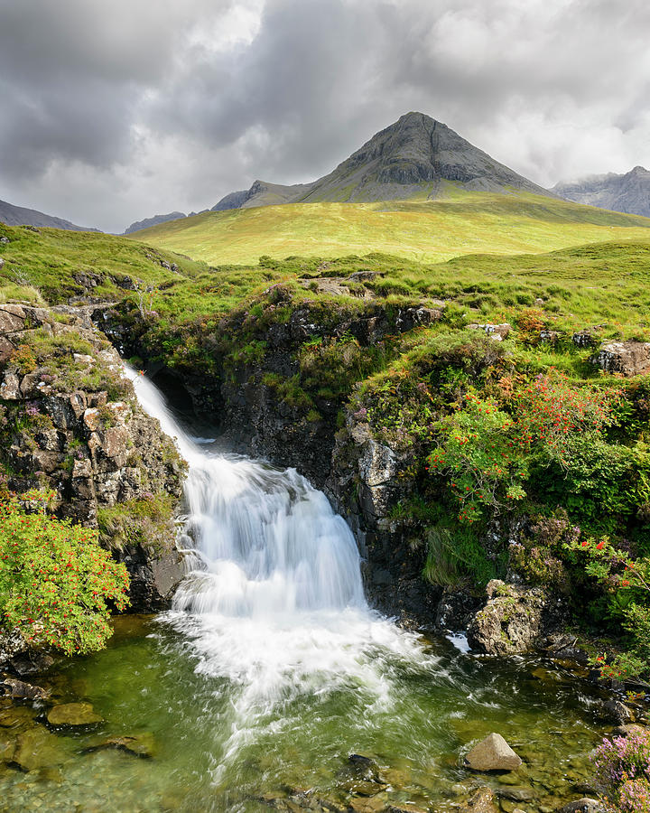 Waterfall Photograph - Glen Brittle Waterfall by Michael Blanchette Photography