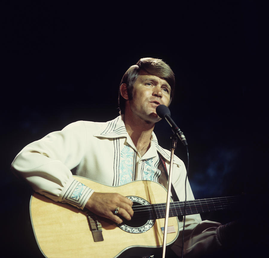 Glen Campbell Performs On Tv Show Photograph by Tony Russell