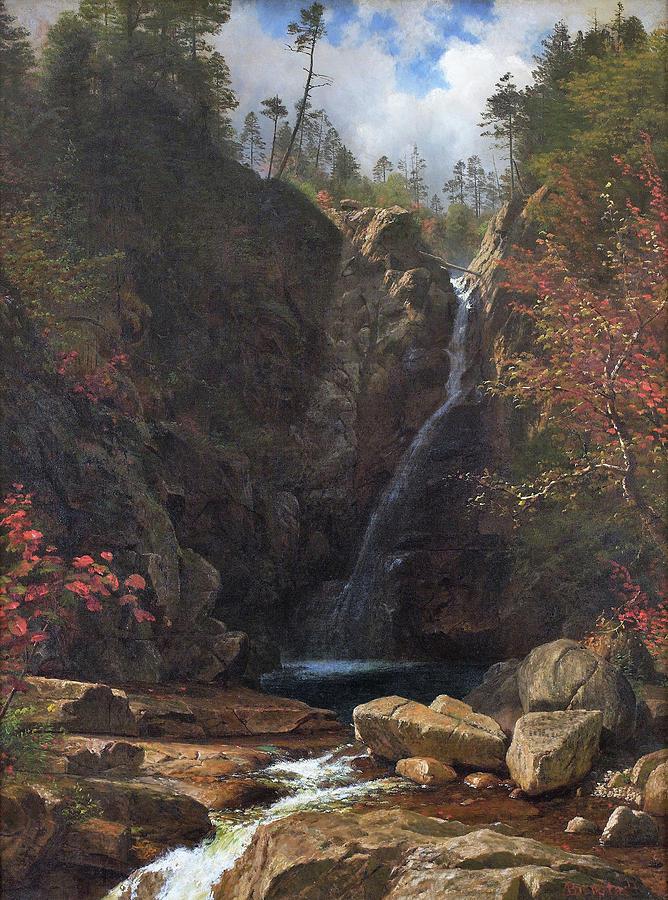 Glen Ellis Falls Painting - Glen Ellis Falls - Digital Remastered Edition by Albert Bierstadt