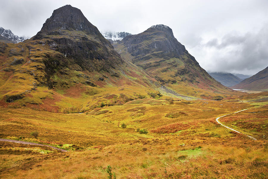 Glencoe And The Three Sisters - Photograph by Theasis