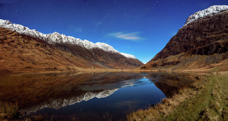 Glencoe Moon Light Pano Photograph by Image By Peter Ribbeck