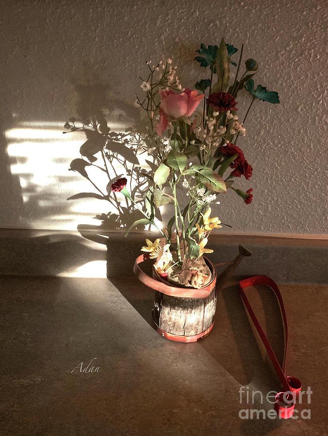 Reflections Photograph - Glimpses - Watering Can Survivor by Felipe Adan Lerma