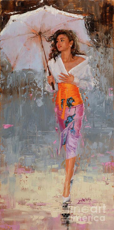 Rain Painting - Glisten by Laura Lee Zanghetti