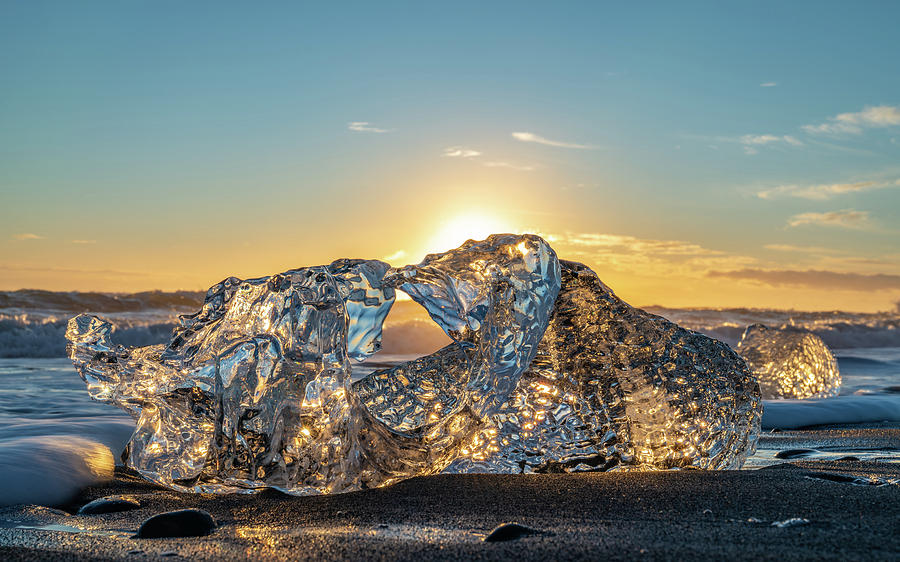 Iceland Photograph - Glistening Ice by Framing Places