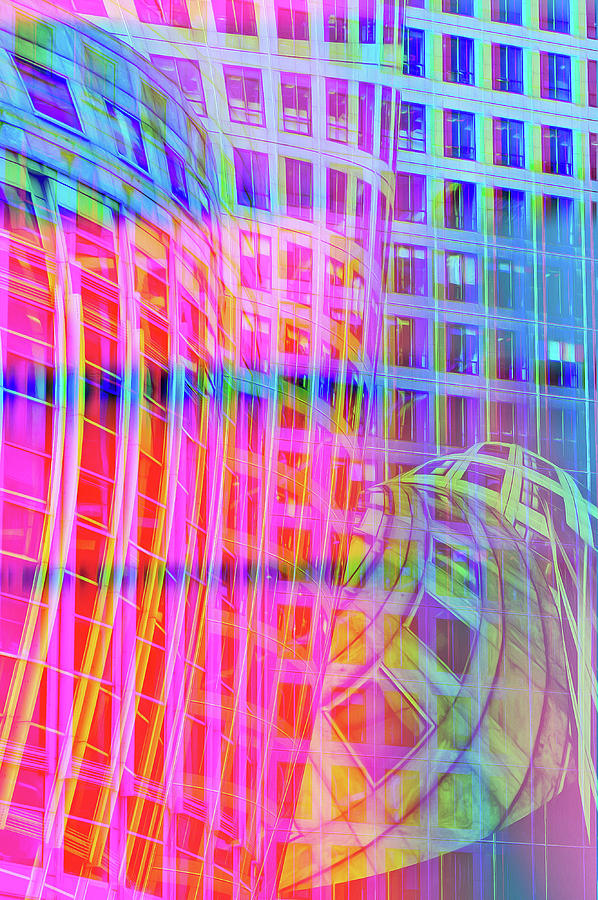 Glitch Art Modern Architecture Trippy Colors Digital Art
