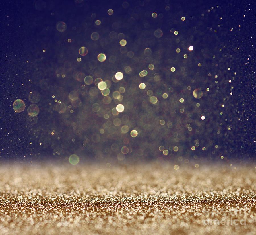 Magic Photograph - Glitter Vintage Lights Background by Tomertu