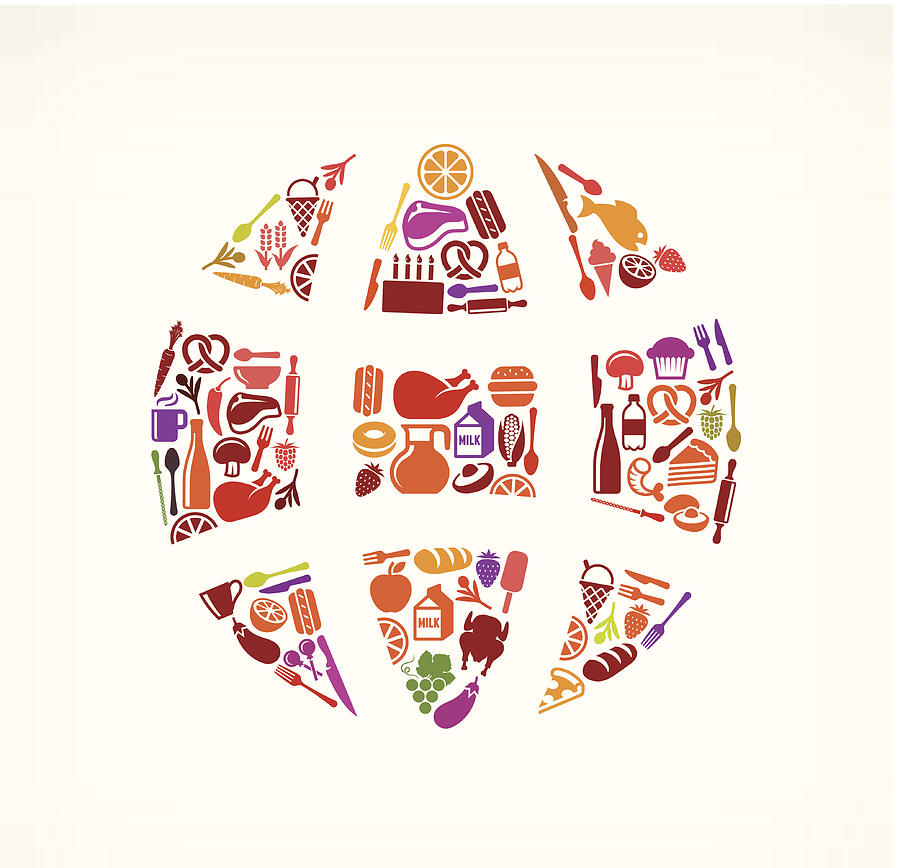 Globe Food & Drink Royalty Free Vector Digital Art by Bubaone