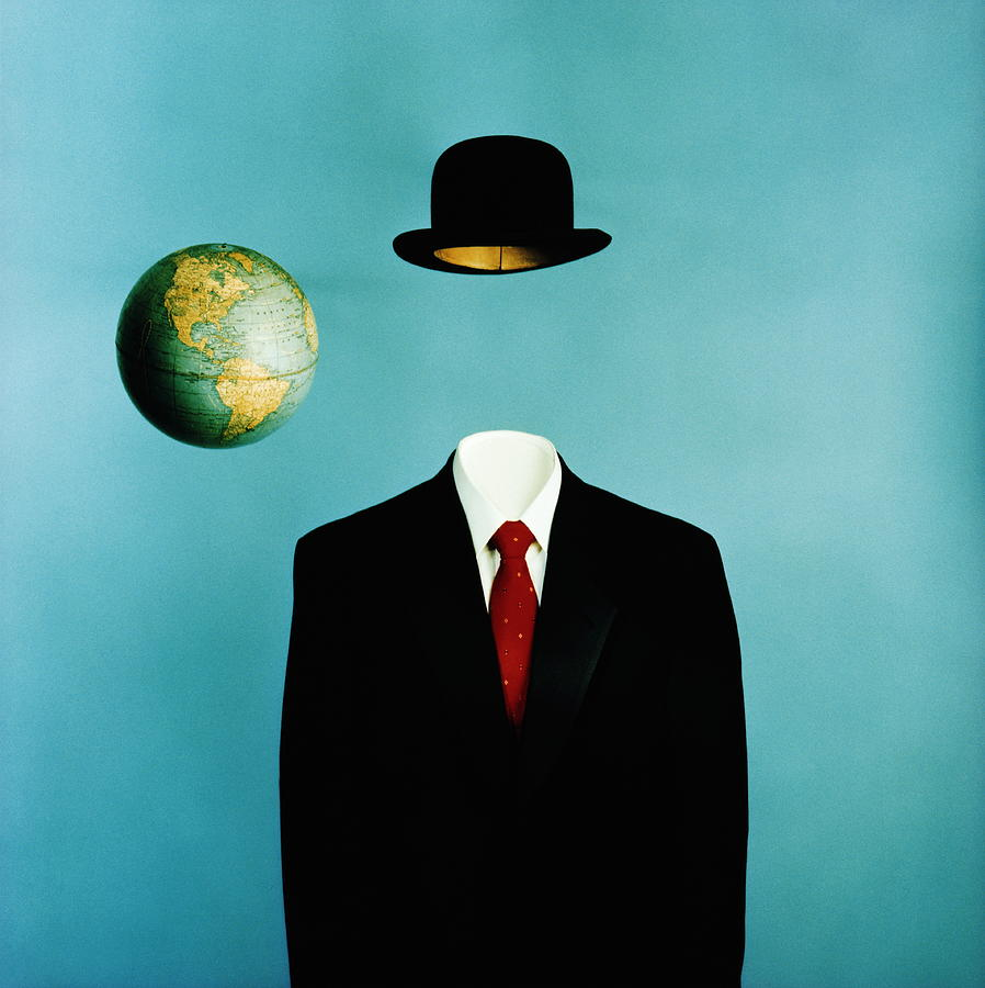 Globe, Top Hat And Mans Business Suit Photograph by Ken Whitmore