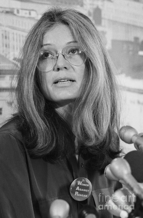 Gloria Steinem At A Press Conference Photograph by Bettmann